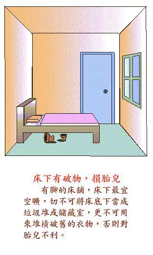 床下有破物损胎儿