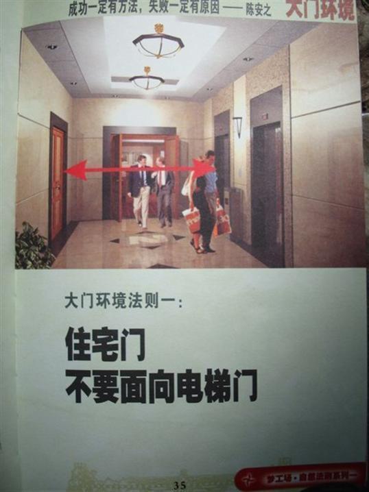 大门对电梯