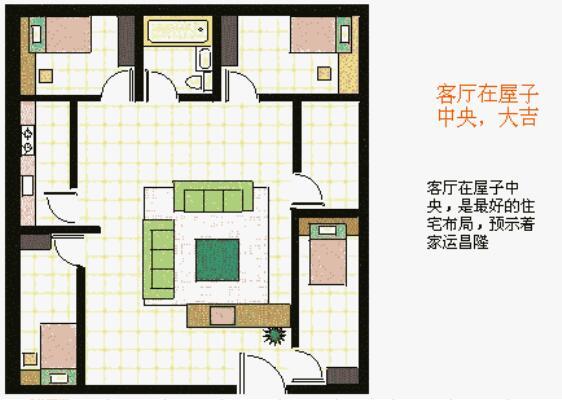 客厅在房子中央大吉
