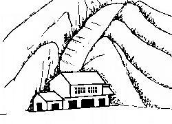 屋在山谷口